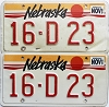 1989 Nebraska pair # D23, Seward County