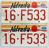 1989 Nebraska pair # F533, Seward County