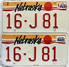 1989 Nebraska pair # J81, Seward County