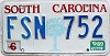 1989 South Carolina graphic # FSN-752