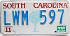 1989 South Carolina graphic # LWM-597