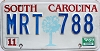 1989 South Carolina graphic # MRT-788