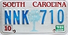 1989 South Carolina graphic # NNK-710