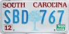 1989 South Carolina graphic # SBD-767