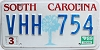 1989 South Carolina graphic # VHH-754