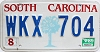 1989 South Carolina graphic # WKX-704