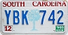 1989 South Carolina graphic # YBK-742