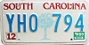 1989 South Carolina graphic # YHO-794