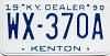 1990 Kentucky Dealer # WX-370A, Kenton County