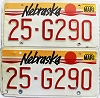 1990 Nebraska pair # G290, Butler County