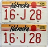 1990 Nebraska pair # J28, Seward County