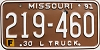 1991 Missouri Farm Truck # 219-460