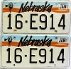 1991 Nebraska pair # E914, Seward County