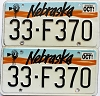 1991 Nebraska pair # F370, Jefferson County