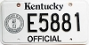 1992 Kentucky Official # E5881