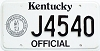 1992 Kentucky Official # J4540