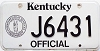 1992 Kentucky Official # J6431
