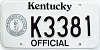 1992 Kentucky Official # K3381