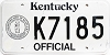 1992 Kentucky Official # K7185