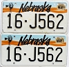1992 Nebraska pair # J562, Seward County