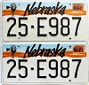 1993 Nebraska pair # E987, Butler County