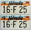 1993 Nebraska pair # F25, Seward County