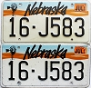 1993 Nebraska pair # J583, Seward County