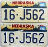 1996 Nebraska pair # J562, Seward County