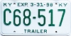 1998 Kentucky Trailer # C68-517
