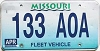 1998 Missouri Fleet Vehicle graphic # 133-AOA