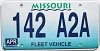 1998 Missouri Fleet Vehicle graphic # 142-A2A