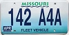 1998 Missouri Fleet Vehicle graphic # 142-A4A