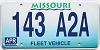 1998 Missouri Fleet Vehicle graphic # 143-A2A
