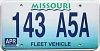 1998 Missouri Fleet Vehicle graphic # 143-A5A