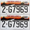 1998 Nebraska pair # G7969, Lancaster County