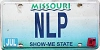 1999 Missouri Vanity graphic # NLP