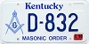 2000 Kentucky Masonic Order graphic # D-832