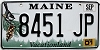 2001 Maine graphic # 8451-JP