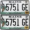 2001 Maine graphic pair # 5751-GE