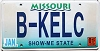 2001 Missouri Vanity graphic # B-KELC