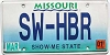 2001 Missouri Vanity graphic # SW-HBR