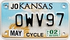 2002 Kansas Motorcycle graphic # OWV97, Johnson County