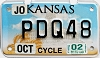 2002 Kansas Motorcycle graphic # PDQ48, Johnson County