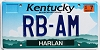 2002 Kentucky Vanity graphic # RB-AM