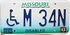 2003 Missouri Disabled graphic # M-34N