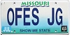 2003 Missouri Vanity grapic # OFES JG