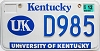 2003 University of Kentucky graphic # D985