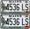 2004 Maine graphic pair # 4536-LS