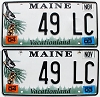 2004 Maine graphic pair # 49 LC