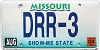 2004 Missouri Vanity graphic # DRR-3